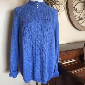 NWT Karen Scott Size XXL Beautiful Blue Sweater